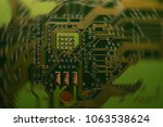 close up electronic components  ... | Shutterstock . vector #1063538624