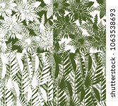 seamless pattern of tropical... | Shutterstock .eps vector #1063538693