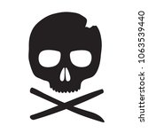skull vector icon. black... | Shutterstock .eps vector #1063539440