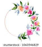 ring flame with the bouquet of... | Shutterstock . vector #1063546829