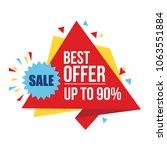 special sale banner  discount... | Shutterstock .eps vector #1063551884