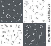 set of geometric mmephis style... | Shutterstock .eps vector #1063551908
