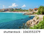 coast of sozopol  bulgaria  | Shutterstock . vector #1063552379