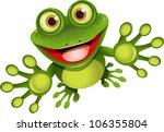 happy frog | Shutterstock .eps vector #106355804