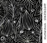 black and white vector seamless ...   Shutterstock .eps vector #1063561649