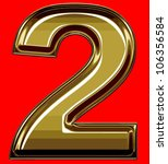 gold digit | Shutterstock .eps vector #106356584