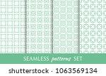 set of seamless line patterns.... | Shutterstock .eps vector #1063569134