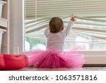 Cute Little Baby Girl Wearing A ...
