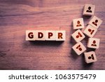 gdpr  general data protection... | Shutterstock . vector #1063575479