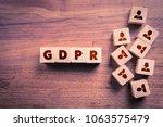 gdpr  general data protection...   Shutterstock . vector #1063575479