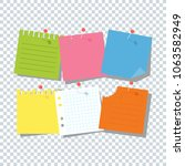 bright square colored sheets of ... | Shutterstock . vector #1063582949