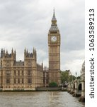 big ben and parliament  london  ... | Shutterstock . vector #1063589213