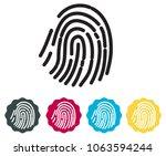 fingerprint scan icon as eps 10 ... | Shutterstock .eps vector #1063594244