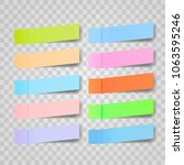 post note sticker vector. paper ... | Shutterstock .eps vector #1063595246