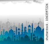 islamic template. modern design....   Shutterstock .eps vector #1063597226