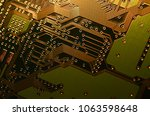 close up electronic components  ... | Shutterstock . vector #1063598648