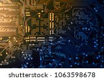 close up electronic components  ... | Shutterstock . vector #1063598678