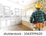 contractor facing custom master ... | Shutterstock . vector #1063599620