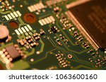 close up of electronic circuit... | Shutterstock . vector #1063600160