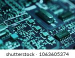 close up of electronic... | Shutterstock . vector #1063605374