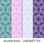 set of abstract seamless... | Shutterstock .eps vector #1063607714
