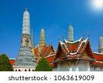 wat phra keaw  grand palace ... | Shutterstock . vector #1063619009