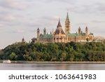 parliament hill in ottawa ... | Shutterstock . vector #1063641983