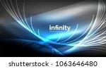 abstract wave on dark... | Shutterstock .eps vector #1063646480