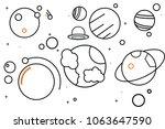 hand drawn solar system set of...   Shutterstock .eps vector #1063647590