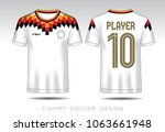 red and black layout football...   Shutterstock .eps vector #1063661948
