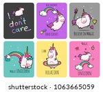 fantasy unicorn cute...   Shutterstock .eps vector #1063665059