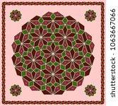 mandala. circular ornament.... | Shutterstock .eps vector #1063667066
