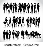 business people silhouettes | Shutterstock .eps vector #106366790