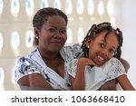 black grandmother and...   Shutterstock . vector #1063668410