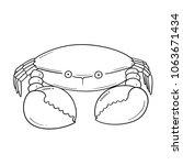 vector of crab | Shutterstock .eps vector #1063671434