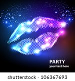 Vector Lips For Your Poster