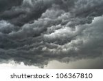 Background Of Storm Clouds...