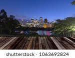 sydney skyline at night ...   Shutterstock . vector #1063692824
