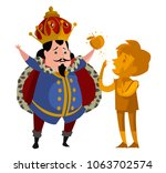 midas king gold touch | Shutterstock .eps vector #1063702574