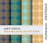 art deco seamless pattern with... | Shutterstock .eps vector #1063702610
