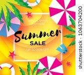 summer sale template banner.... | Shutterstock . vector #1063704200