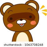 raccoon dog expression notice   Shutterstock .eps vector #1063708268