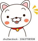 white dog expression notice   Shutterstock .eps vector #1063708508