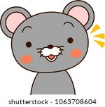 mouse expression notice   Shutterstock .eps vector #1063708604