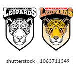 mascot leopards   sport team... | Shutterstock .eps vector #1063711349