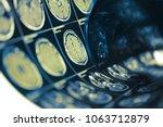 human brain scan testing film... | Shutterstock . vector #1063712879