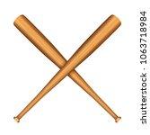 baseball bats on a white... | Shutterstock .eps vector #1063718984