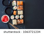 traditional japanese food ... | Shutterstock . vector #1063721234