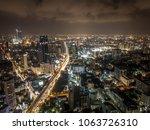 bangkok metropolis drone... | Shutterstock . vector #1063726310