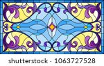 llustration in stained glass... | Shutterstock .eps vector #1063727528